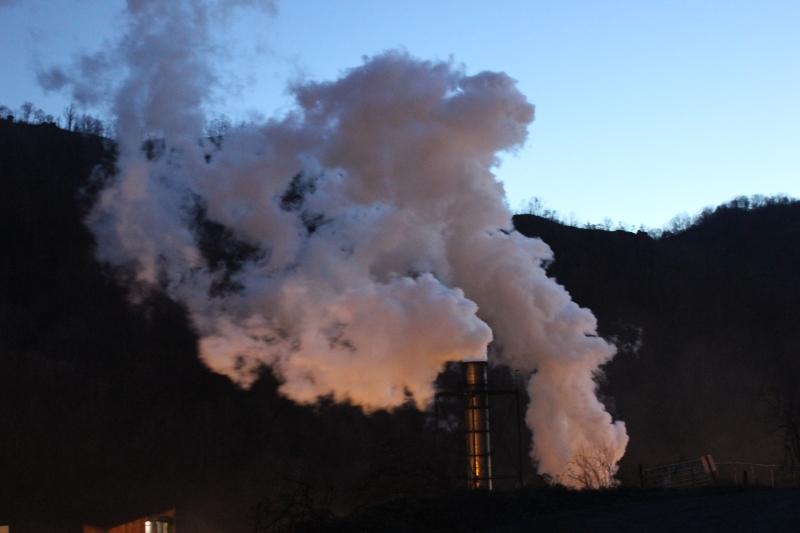 Smoke From the Coke Plant, VA near Grundy